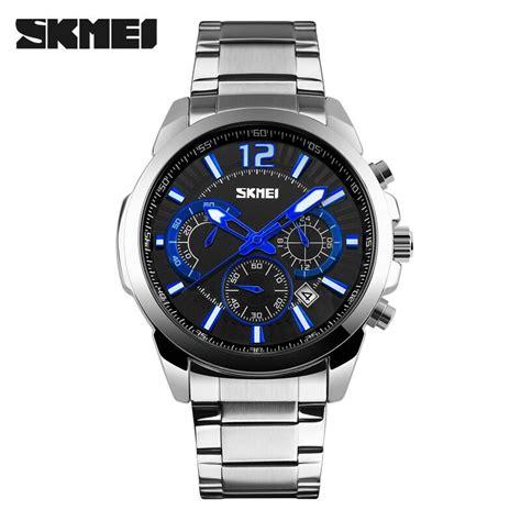 Skmei Casual Stainless Water Resistant 30m 9108cs 1 Skmei Jam Tangan Analog Pria 9108cs Silver Black