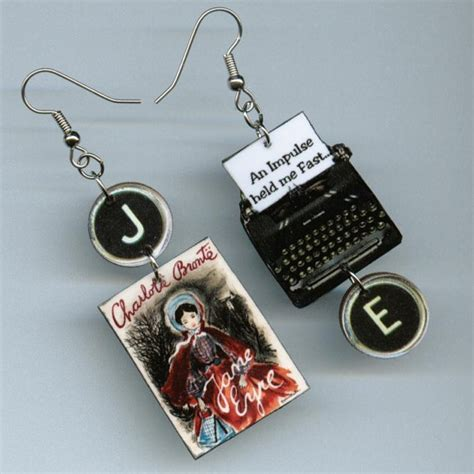 book earrings eyre vintage typewriter