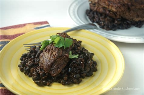 sunday slow cooker ancho chile tri tip and black beans slender kitchen