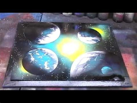 spray paint tutorial en espaã ol beginner galaxy spray paint