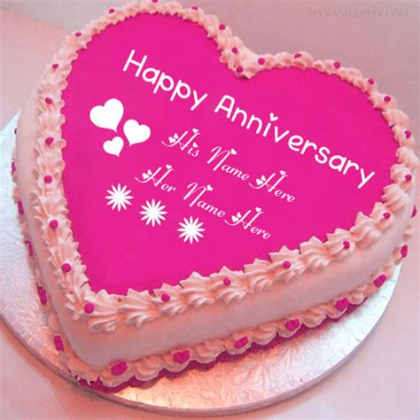 Wedding Anniversary Wishes With Name And Photo by Write Name On Anniversary Wishes Cake Pictures