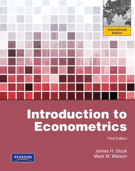 online tutorial econometrics pearson education higher and professional education bookshop