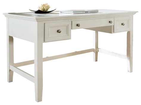 Steve Silver Oslo Writing Desk In White Traditional White Writers Desk