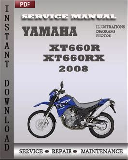 Yamaha Xt660r Xt660rx 2008 Workshop Factory Service Repair