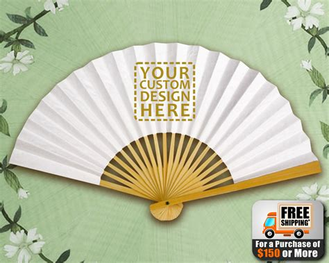 personalized fans with picture custom paper fans