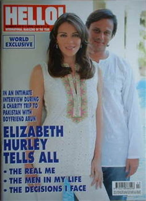 Elizabeth Hurley In Hello Magazine And Also Another Wedding Dress by Hello Magazine Elizabeth Hurley And Arun Nayar Cover 4