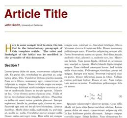 two column article templates tex latex stack exchange