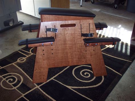 homemade spanking bench dungeon sex furniture bdsm bench chestnut red w black