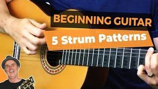 beginner acoustic guitar strumming country style classic rhythm guitar the boom chicka strum pattern for