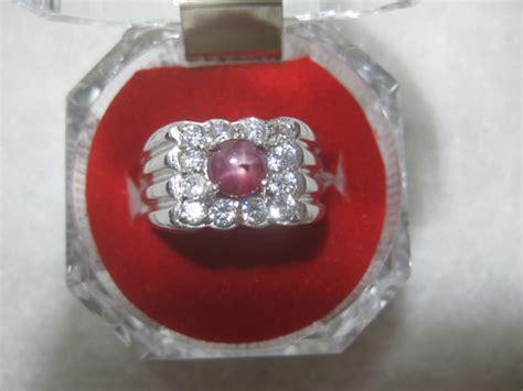 Cincin Ruby 13 5 Mm crsm 002 ruby 0 58ct pd cincin perak 6 49gr