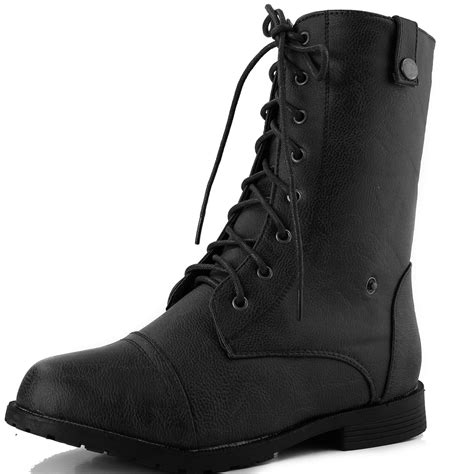 comfortable lace up boots women s comfortable easy lace up fold down plaid combat
