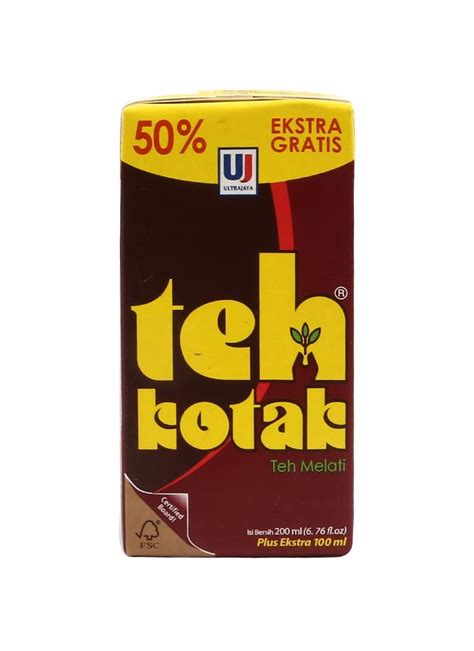 ultra teh kotak 50 tpk 200ml klikindomaret