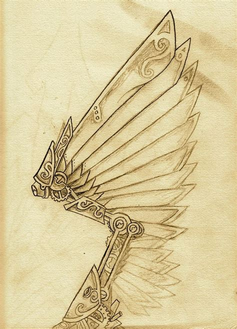 steampunk wings tattoo awesome pinterest inspiration