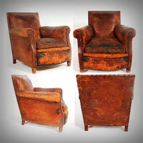Worn Leather Armchair by Leather Armchair Soft Worn Country House Look Antiques Atlas