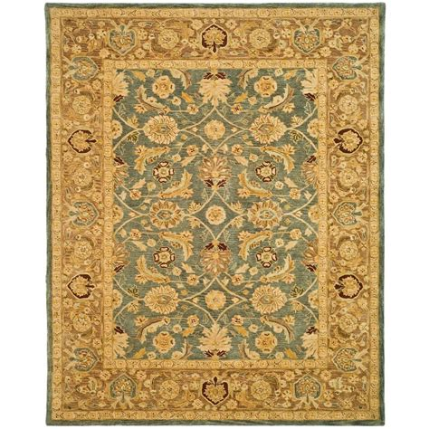 safavieh anatolia soft turquoise 8 safavieh anatolia blue brown 8 ft x 10 ft area rug an549b 8 the home depot