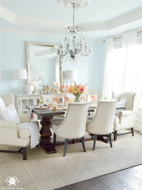 dining room designs with simple and elegant chandilers flamingo inspired ladies luncheon kelley nan
