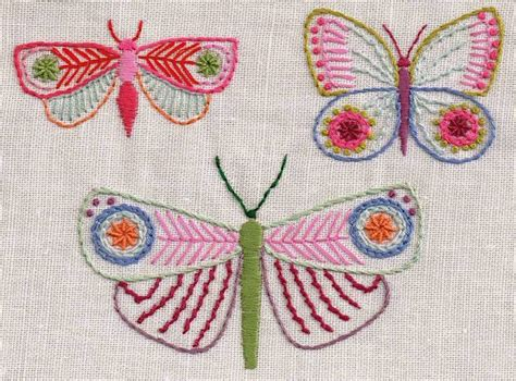 free butterfly hand embroidery nancy nicholson embroidered butterflies and france