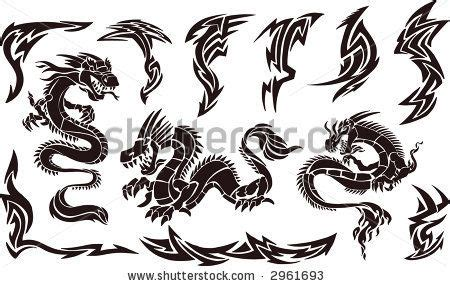 twin dragon tattoo designs tribal tattoos designs and on