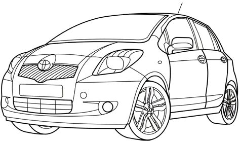 toyota car coloring page toyota yaris coloring page cars coloring pages