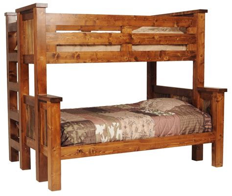 wooden bunk beds twin over full bunk beds twin over full wood log mygreenatl bunk beds
