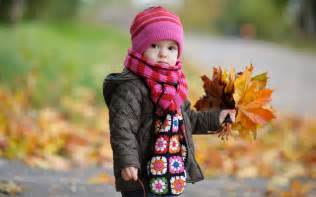 Cute Wallpapers For Kids Cute Baby In Autumn Wallpapers Hd Wallpapers