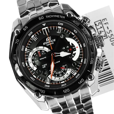 Casio Edifice Ef 550 1avdf Silver Black new casio edifice mens chronograph ef 550d 1avdf ef550d