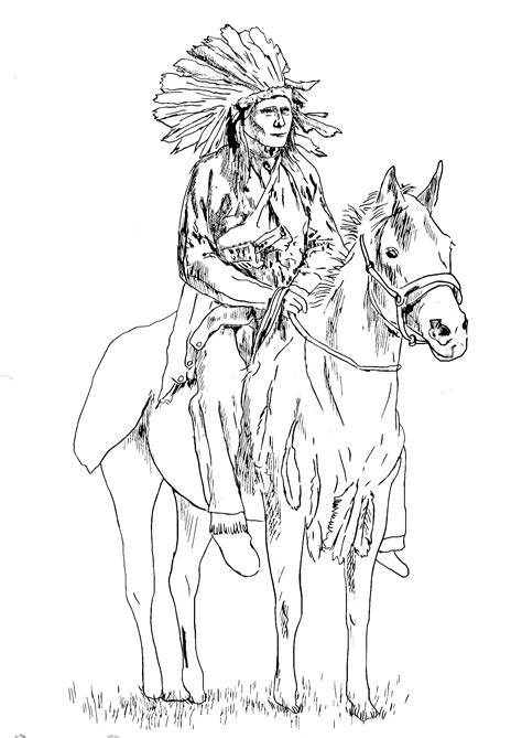 coloring pages for fun printable native american native american on his horse native american coloring