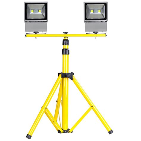 2pcs 50w 100w Led Flood Light Tripod Stand Kit Outdoor Outdoor Light Stand