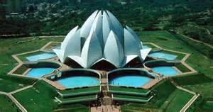 Bahai Lotus Temple Bahai Temple Flowery Building Of India Xcitefun Net