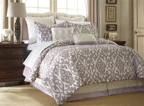 8 piece floral damask microfiber comforter set king
