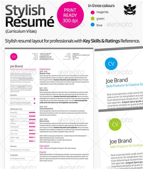 impressive indesign resume templates 21 stunning creative resume templates