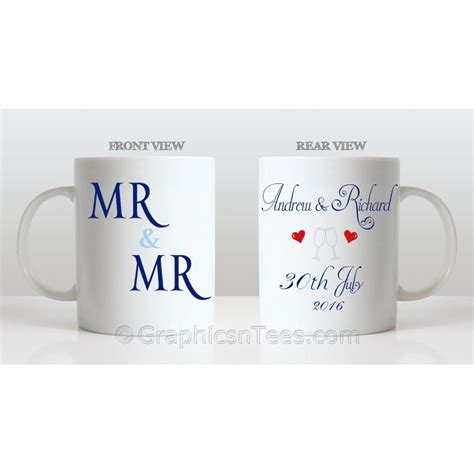 Wedding Gift Names by Mr Mr Personalised Wedding Gift Mug Personalised With