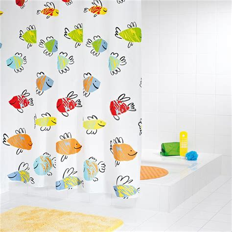 kids fish shower curtain colorful fish polyester shower curtain for kids favorite