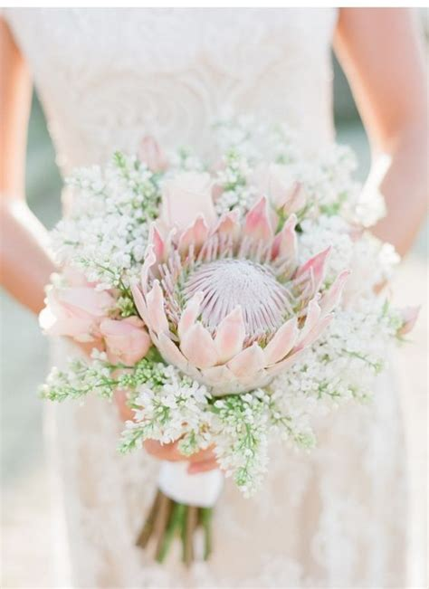 tropical king protea wedding bouquets ideas page