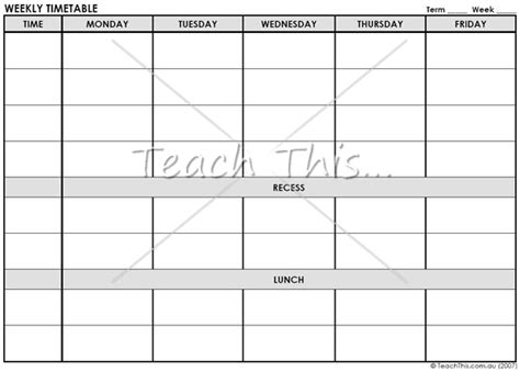 free printable weekly planner for teachers weekly planner printable teacher resources and classroom
