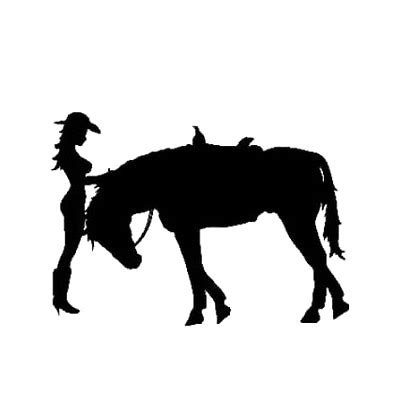 and horse silhouette tattoo design