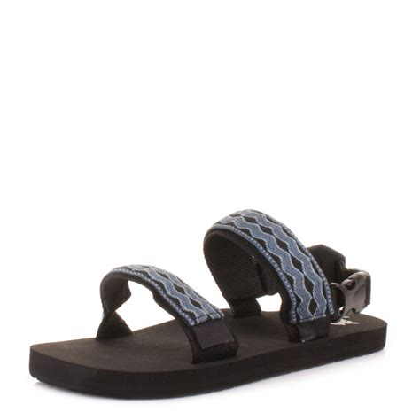 mens sandals with velcro straps mens reef convertible black denim velcro activity