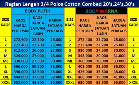 Kaos Oblong Catton Combed Unisex Grosir Sablon 3 master kaos polos murahjakarta timur catton combed 20s 24s