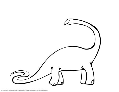 Apatosaurus Pdf Clipart Best Clipart Best Brontosaurus Coloring Page