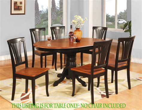 Kitchen Tables Chairs Oval Dinette Kitchen Dining Room Table Only 42 Quot X 60 Quot With 18 Quot Butterfly Leaf Ebay