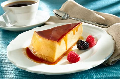13 Ingredients And Directions Of Chocolate Cheese Flan Receipt by Flan De Queso Caramel Topped Cheese Custard