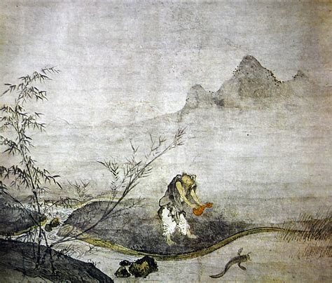 Masson Let Teach You China Painting by Josetsu S Catching A Catfish With A Gourd Letsjapan