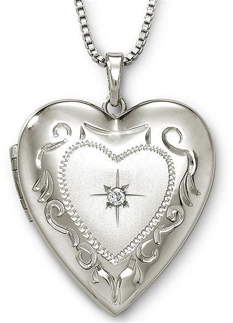 jcpenney jewelry photo locket sterling silver