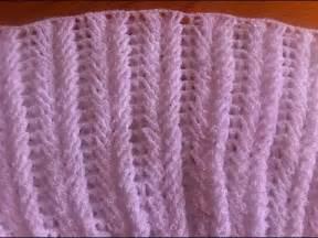 punto espiga punto fantas 205 a en crochet trigo o espiga paso a paso