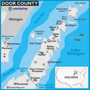 door county wisconsin map and information page