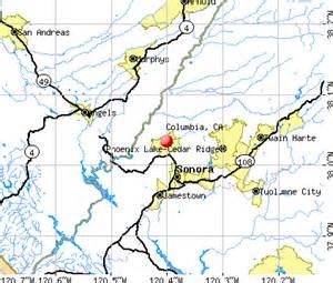 columbia california ca 95310 profile population maps