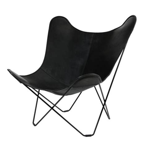 cuero mariposa cuero leather mariposa butterfly chair sessel ambientedirect