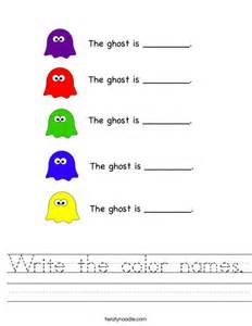 write the color names worksheet twisty noodle