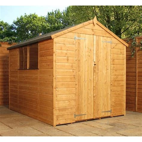 installed 8 x 6 tongue and groove apex shed with