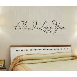 Vinyl Wall Stickers Quotes Promotion Ps I Love You Vinyl Wall Quotes Stickers
